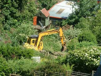 Carelet rid the site of biodiversity interest in June 2005