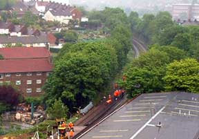 Track renewal by Network Rail in May 2007