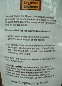 posters in Round Hill streets call for works to cease