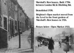 The houses in Marshalls Row were demolished in 1938 creating more space for the market