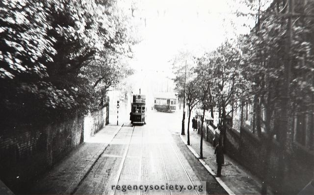 Tram descending Ditchling Rd in late 1930s
