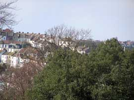 Close up of Round Hill from Woodvale